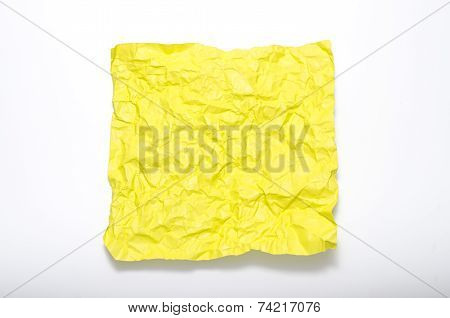 Texture Of Wrinkled Yellow Paper
