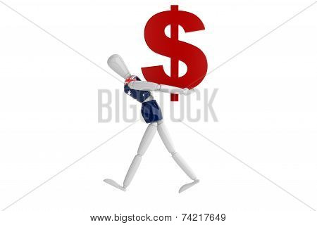 Australia Dollars Currency White Man