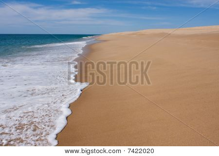 Simple sandy beach