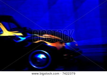 Colorful Fast Car