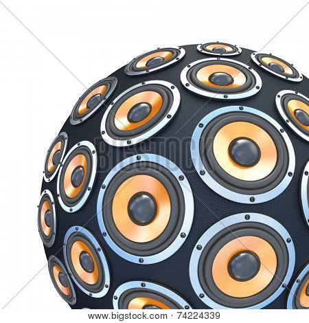 speakers in form of part sphere isolated