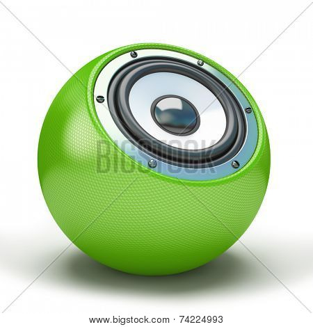 Green sphere speaker 3D