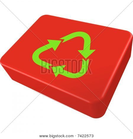 Recycle Box Icon Isolated On White