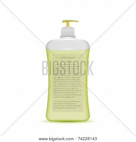 Vector illustration of liquid soap bottle