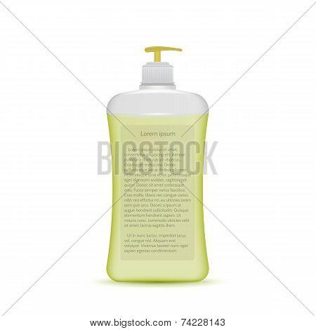 Vector illustration of liquid soap bottle
