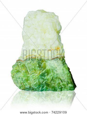 Jade Isolated On White Background.