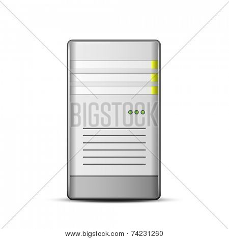 Server icon. Vector illustration of computer server