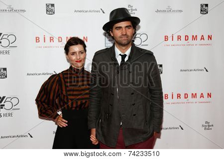 NEW YORK-OCT 11: Writer Armando Bo (R) and Isabel Sarli attend the 'Birdman Or The Unexpected Virtue Of Ignorance' premiere at the New York Film Festival on October 11, 2014 in New York City.