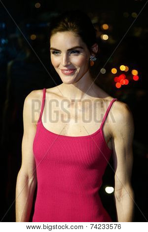 NEW YORK-OCT 16: Model Hilary Rhoda attends God's Love We Deliver, Golden Heart Awards on October 16, 2014 in New York City.