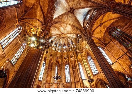 Cathedral of the Holy Cross and Saint Eulalia. Barcelona, Spain