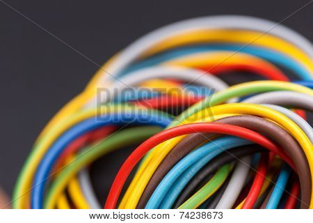 Colorful power cables