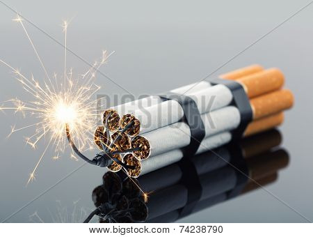 Explosives from cigarettes