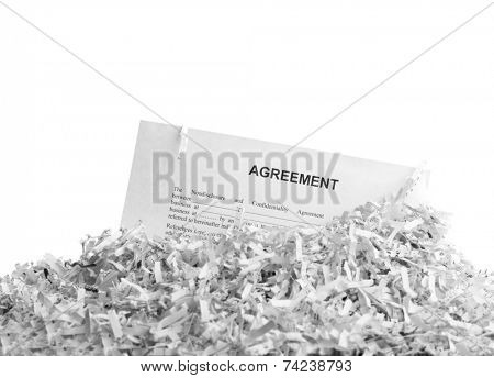 Shredded agreement isolated