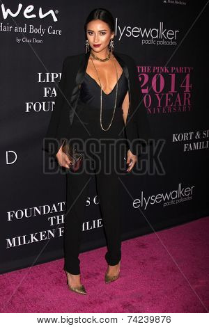 LOS ANGELES - OCT 18:  Shay Mitchell at the Pink Party 2014 at Hanger 8 on October 18, 2014 in Santa Monica, CA