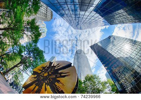 Financial Skyscraper Buildings In Charlotte North Carolina Usa