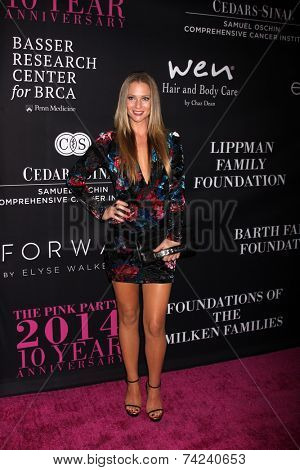 LOS ANGELES - OCT 18:  AJ Cook at the Pink Party 2014 at Hanger 8 on October 18, 2014 in Santa Monica, CA