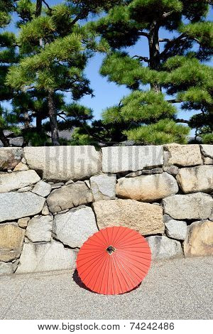 Japanese traditiona red umbrella