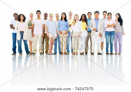 Group of Cheerful Multi Ethnic Diverse People