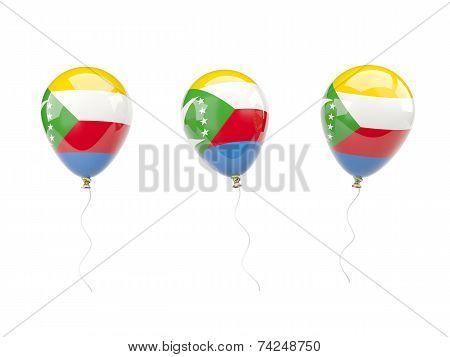 Air Balloons With Flag Of Comoros