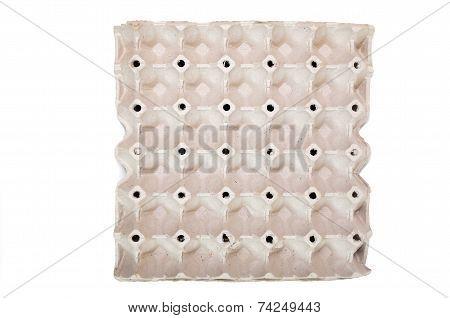 An Egg Carton On A White Background