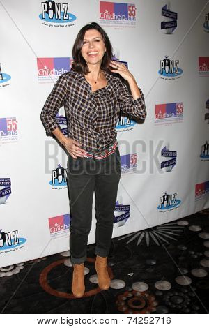 LOS ANGELES - OCT 19:  Finola Hughes at the First Annual Stars Strike Out Child Abuse event to benefit Childhelp at Pinz Bowling Center on October 19, 2014 in Studio City, CA
