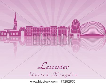 Leicester Skyline In Purple Radiant Orchid
