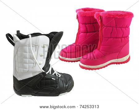 men's boot under the white background