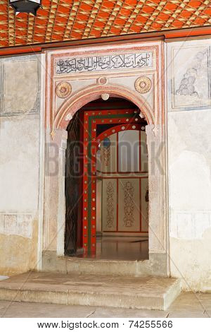 Door Of Khan's Palace (hansaray) In Bakhchisaray