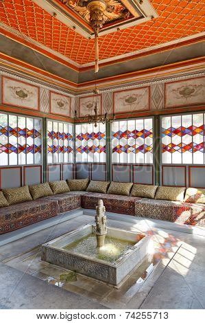 Interior Of Summer Room In Khan's Palace, Crimea