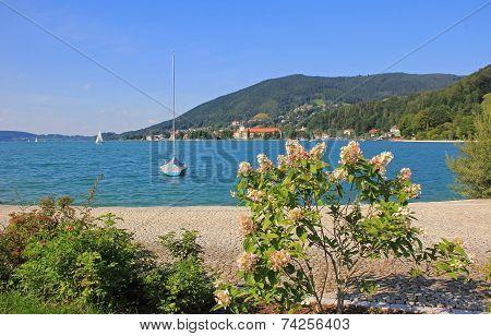 Idyllic Waterside Promenade, Lake Tegersee