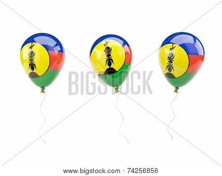 Air Balloons With Flag Of New Caledonia