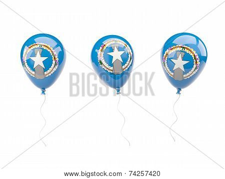 Air Balloons With Flag Of Northern Mariana Islands