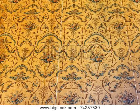 Old Fabric Wallpaper In Room Of Voronsov Palace