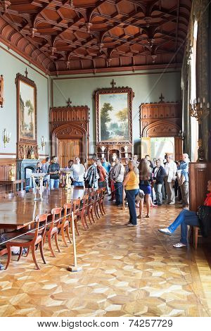 Tourists In Formal Dining Room In Vorontsov Palace