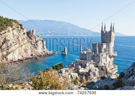 Black Sea Coastline With Swallow's Nest Castle