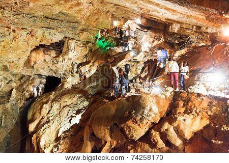 Yaltinskaya Cave On Ai-petri Plateau In Crimea