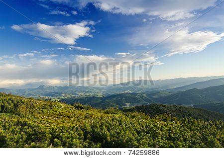 Carpathian mountain landscape