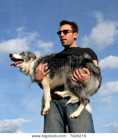 man and dog