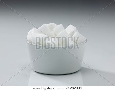 Bowl Of Cubed Sugar