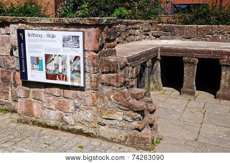 Roman baths, Chester.
