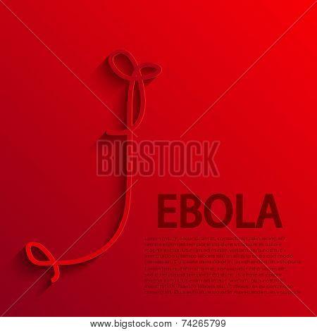 vector modern ebola elemenr design.