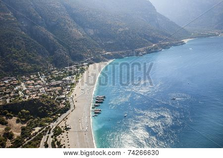 Aerial view of Oludeniz
