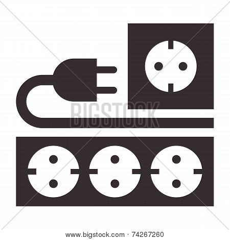 Power Outlet, Plug And Socket Sign
