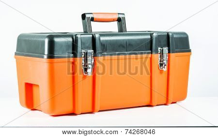 Orange Toolbox Isolated
