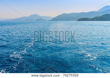 Trace Of The Ship On The Water