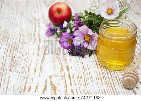 Honey With Flowers