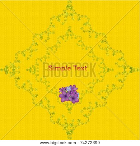 Floral background. Vector design template. Vector plants pattern with text area.