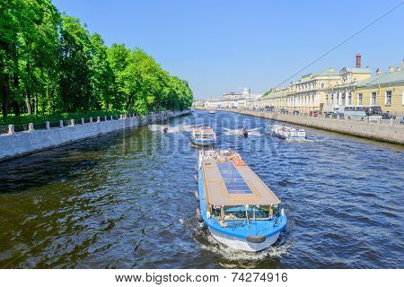 The Fontanka river in Saint Petersburg