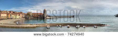 Collioure And Port Panorama