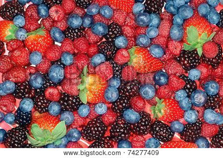 Background image of mixed berries